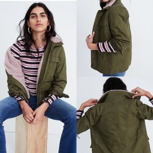 Madewell Army Sherpa lined Surplus Jacket
